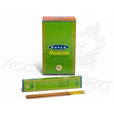 Mantram Incense Satya Мантрам аромапалочки 12 шт / 21 см, Индия