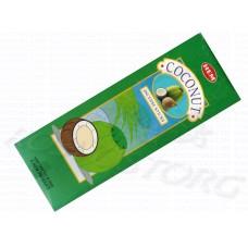 HEM Coconut (Кокос) аромапалочки 20 шт / 24 см шестигранник Индия