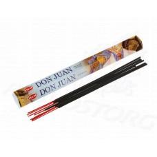 HEM Don Juan (Дон Жуан) аромапалочки 20 шт / 24 см коробка шестигранник Индия