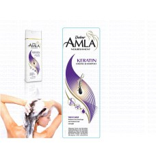 Крем-шампунь Dabur Amla Nourishment Keratin Creme Shampoo Амла и Кератин для сухих и ослабленных волос 200 мл, Индия