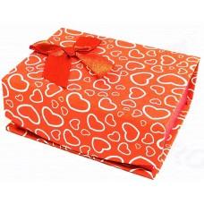 Коробка подарочная с крышкой на магните (красная) 10х8х4 см