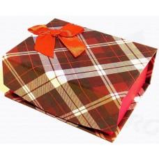 Коробка подарочная с крышкой на магните (шотландская клетка) 10х8х4 см