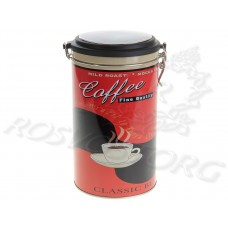 "Банка для кофе ""Винтаж"" 1.5л (19х11 см) металл"