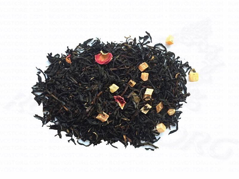 Фруктовый чай на белом фоне