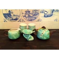 Набор для чайной церемонии Лист лотоса перламутр (на 6 персон) фарфор, Китай