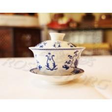 Гайвань чайная Синий Пион (100мл), фарфор