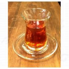 Армуд Турецкий чайный стакан с блюдцем стекло 160 мл