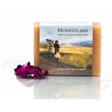 Кобылье молоко и Роза натуральное мыло Mongolian Mare's Milk & Rose Soap (100г) Непал