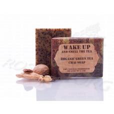 Зеленый чай натуральное мыло Wake Up Organic Green Tea Chai Soap (100г) Непал