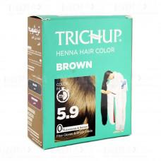 Хна Краска для Волос Коричнeвая Trichup Henna Hair Color Brown #5.9 без аммиака 6 х 10 г