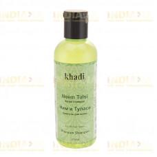 Бессульфатный Шампунь Ним и Туласи • Neem & Tulsi Shampoo Khadi 210 мл