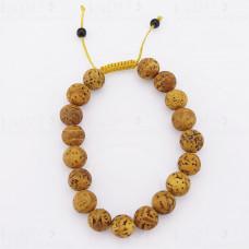 Купить Браслет-четки из дерева бодхи 18 бусин диаметр браслета 7-10 см диаметр бусины - 12 мм