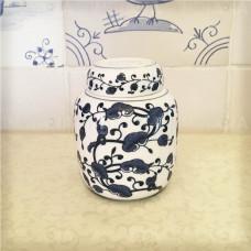 Чайница фарфоровая (Банка для чая) Райские Цветы Китай