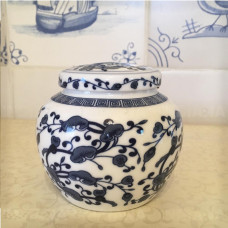 Фарфоровая Чайница (Банка для чая) Райские Цветы Шар Китай