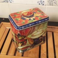Металлическая Банка для чая Русское Чаепитие 600 мл