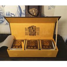 Подарочная упаковка для чая Пенал Коричневый 3 банки, Китай