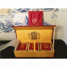 Подарочная упаковка для чая Пенал Красный 3 металлические банки, Китай