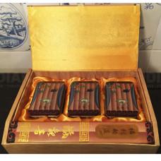 Подарочная Упаковка для чая Бамбук (3 банки металл), Китай