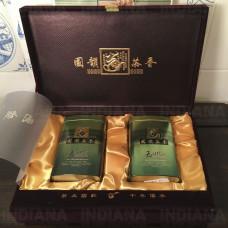 Подарочная коробка для чая Бархат (2 банки металл), Китай