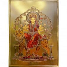 Картина Панно Богиня Дурга под золото Формат А4 30х21 см, Индия