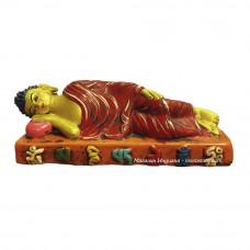 Лежащий Будда статуэтка керамика ручная работа, Непал