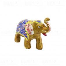 Статуэтка Слон с Поднятым хоботом Роспись 13×6х11 см