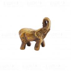 Статуэтка Слон Поднятый хобот #02 * 3×3.5х3 см (45 г) латунь Индия