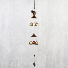 Колокольчики Музыка ветра Слон и Пагода 6 колокольчиков 50 см