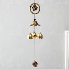 Китайские Колокольчики Музыка ветра Слоны • 3 колокольчика и шар 40 см