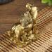 Денежная Жаба На Тигре с Монетами 10х6х7 см под бронзу (полистоун), Китай