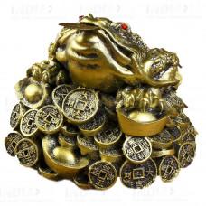 Денежная Жаба Большая На Монетах 13х12х10 см под бронзу (полистоун), Китай