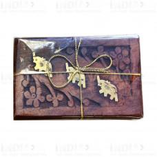 Подарочный Чай Масала 50 г в деревянной резной шкатулке 3 Слона