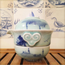 Набор Чайный Для Двоих (гайвань и 2 пиалы) фарфор