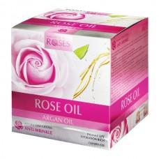Интенсивный дневной крем против морщин с розовым и аргановым маслом /AGIVA ROSES Rose and Argan Oil Day cream (50мл), Болгария