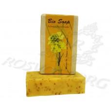 Натуральное Мыло Куркума, горчица и полынь Bio Bhutan Mustard oil, Turmeric and Artemesia Soap 30г, Бутан