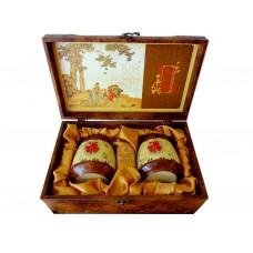 Подарочный Набор 2 Керамические Чайницы в Сундуке