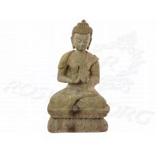Купить Статуэтка Будда на лотосе ❤ Резная Статуэтка Сандаловое Дерево 20-21 см