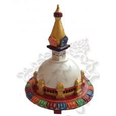 Купить Буддийская Ступа цветная Сувенир 20 см резьба по дереву ручная работа Непал
