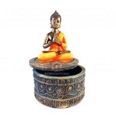 Будда статуэтка-шкатулка h=15 см (полистоун), Китай