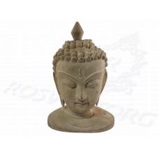 Голова Будды статуэтка 20-21 см, сандаловое дерево, ручная работа, Непал