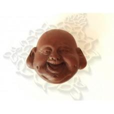 Чайная фигурка Голова Хотея 5 см (глина), Китай
