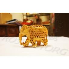 Купить Статуэтка Слон Матрешка из дерева 10 см (Мать-детка) ажурная резьба Непал