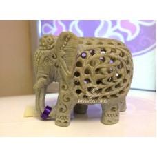 Купить Статуэтка Слон матрешка 7 см (Мать-детка) камень стеатит ажурная резьба ручная работа, Непал