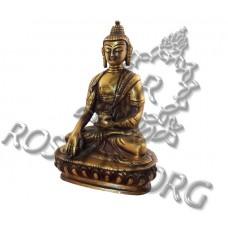 Купить Статуэтка Будды на Лотосе латунь 15 см
