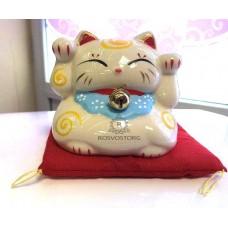 Копилка Кошка Манэки Нэко на подушке, керамика, Китай