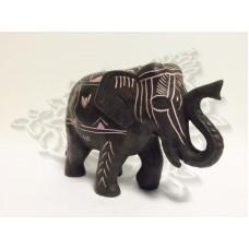 Статуэтка Слон расписной, h=7,5 см, полистоун, Непал