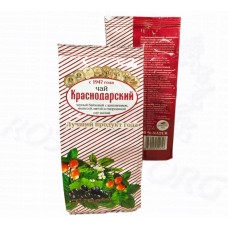 Краснодарский черный чай с шиповником, мелиссой, мятой и черной смородиной 100г (пэт пакет), Россия