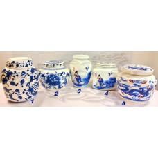 Чайница (Банка для чая) Традиционный бело-синий фарфор на ~100 г, Китай