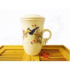 Кружка заварочная с колбой Восход (250мл) фарфор, Chengyi Ceramic