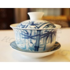 Гайвань чайная, рисунок Бамбук, средняя (150мл), фарфор